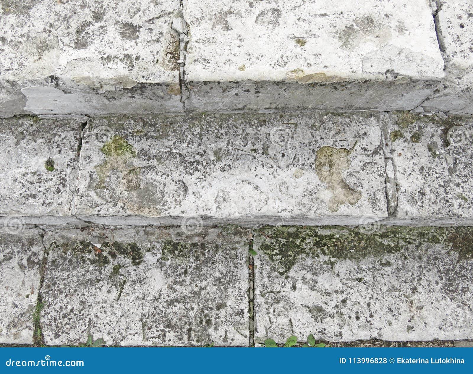 Gray Staircase idoso Escadaria de Gray Bricks idoso, vintage Stairc
