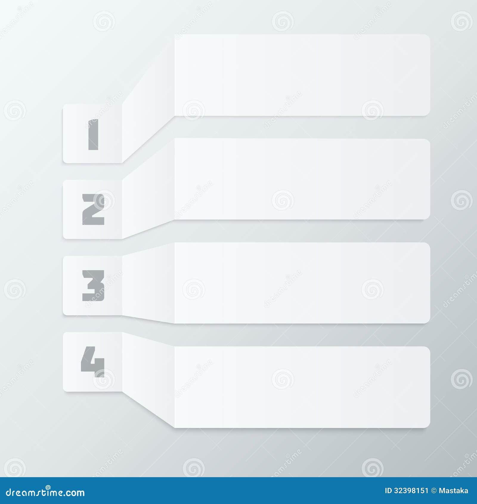 Gray Steps Infographics Elements ligero