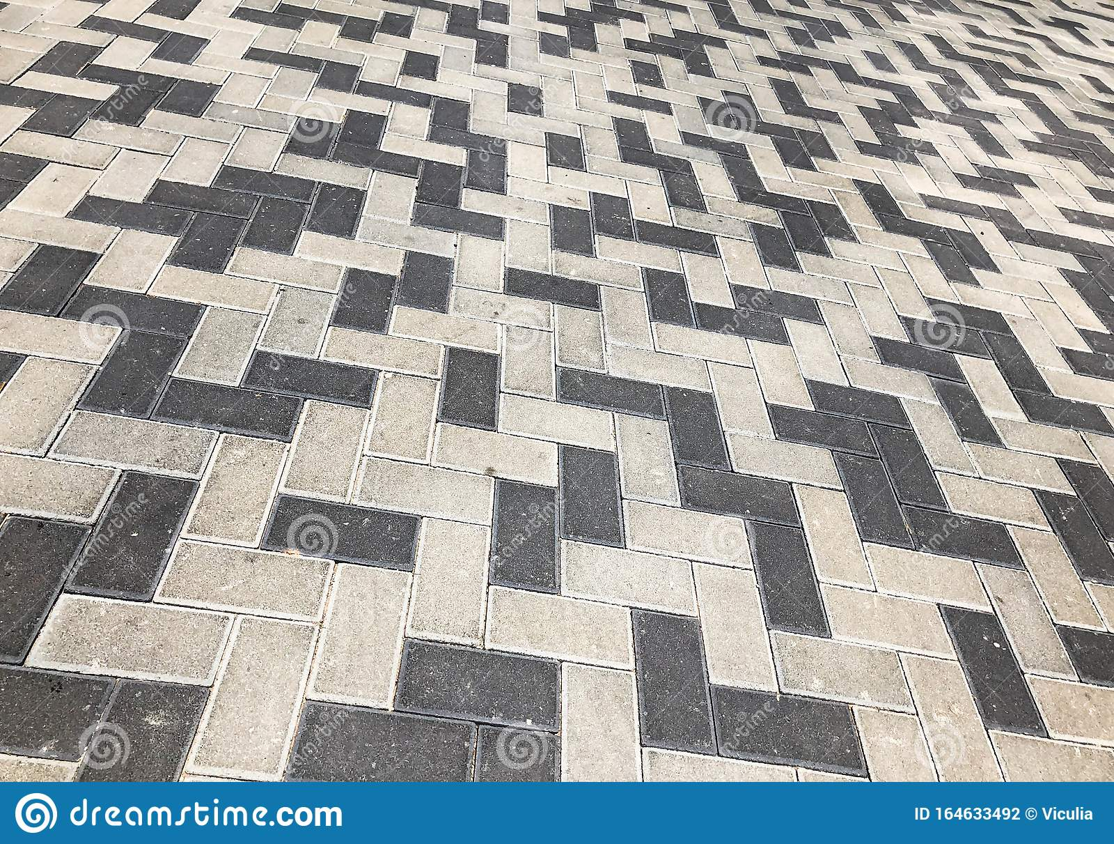 Gray Tiles Granite Floor Background Pavement Tiles Outdoor Urban Land Stock Photo Image Of Hexagon Concrete 164633492
