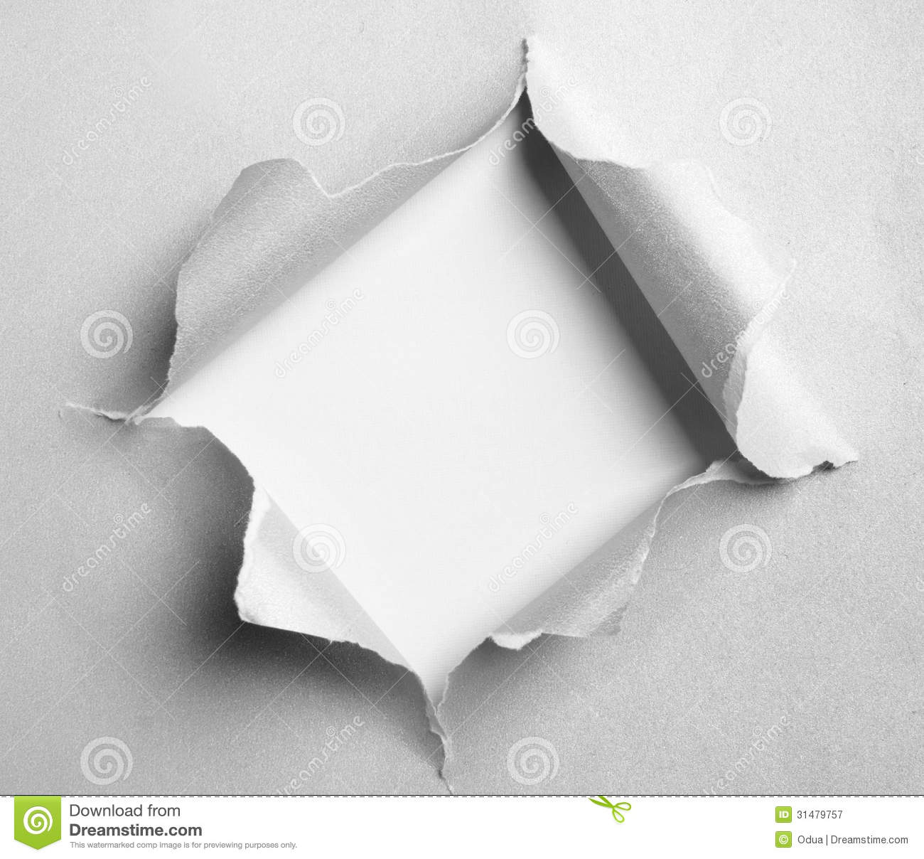 Gray Torn Paper With Square Shape Royalty Free Stock Photography ...