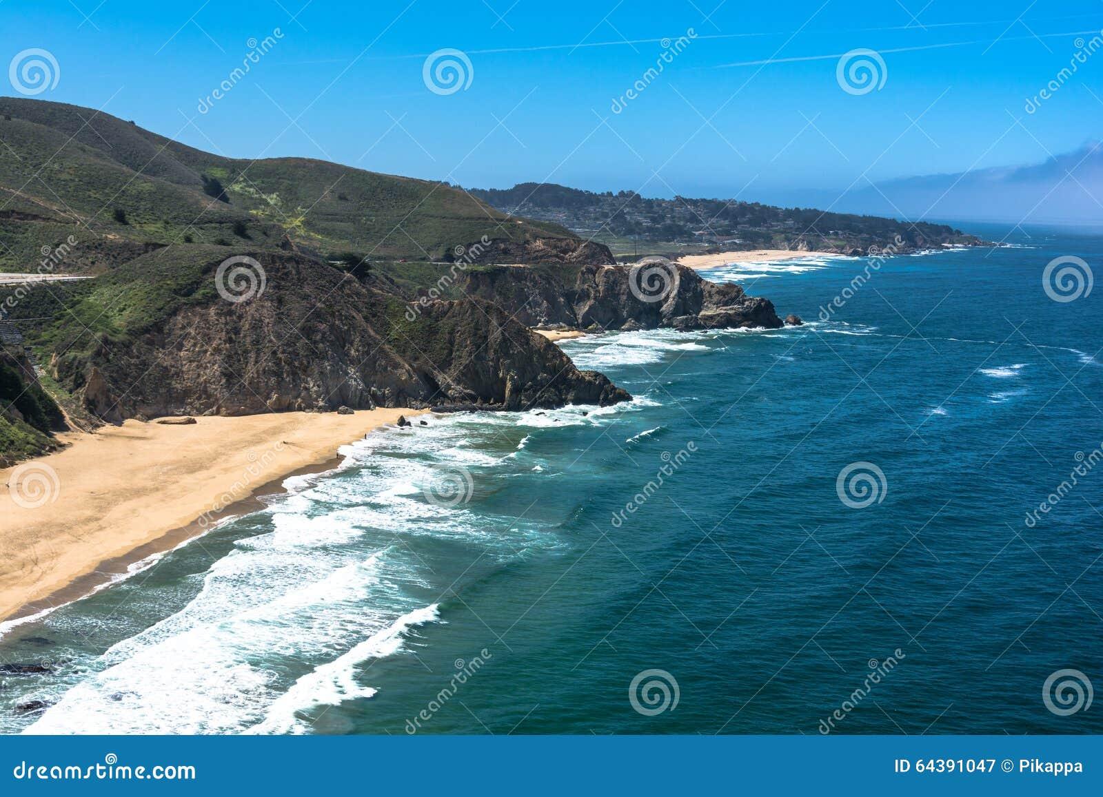 Gray Whale Cove State Beach, Californië