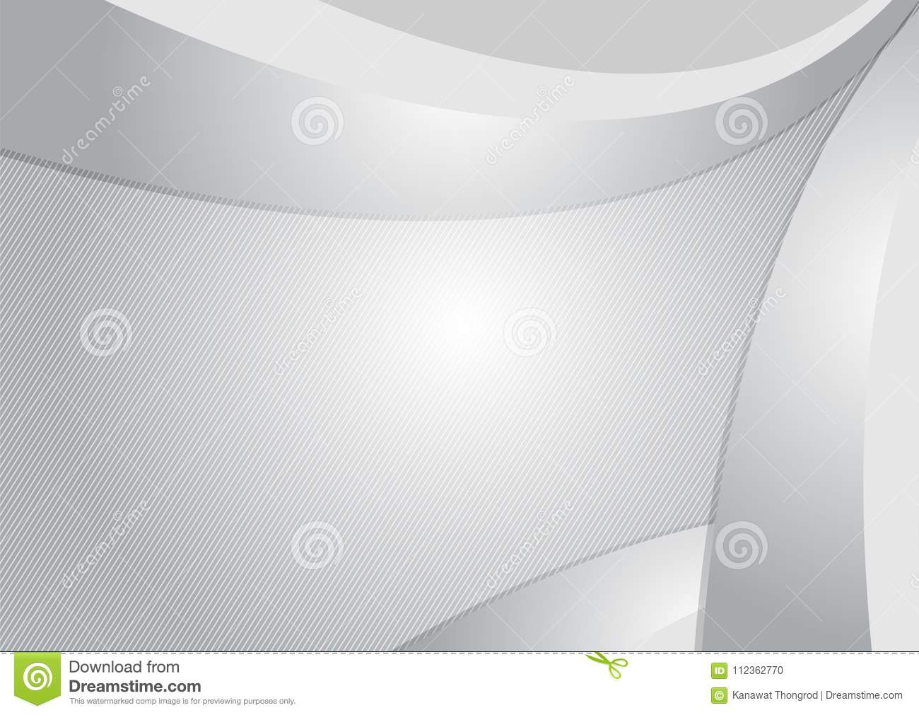 Gray and White modern futuristic geometric abstract vector background with copy space
