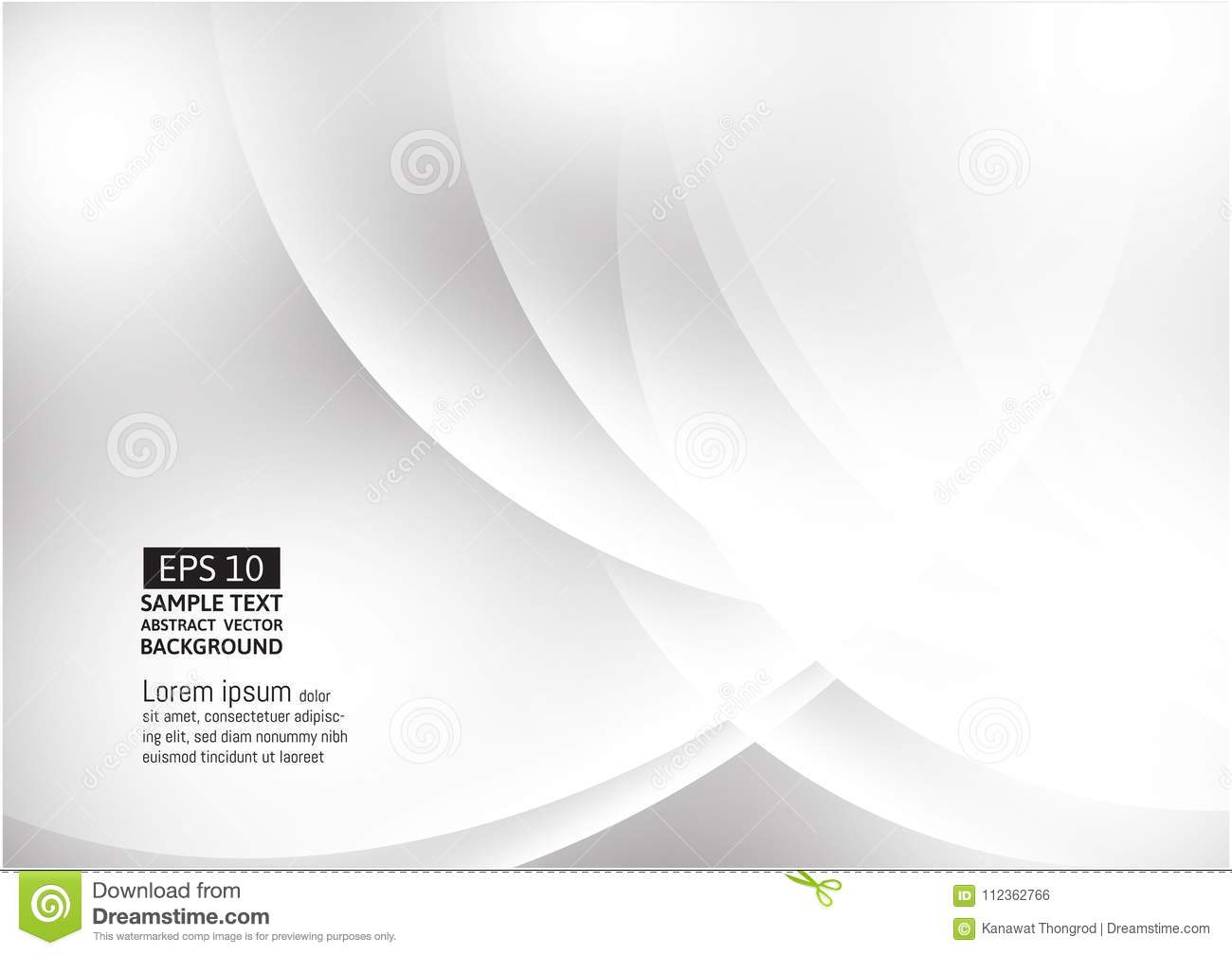 Gray and White modern futuristic geometric abstract vector background with copy space, modern design
