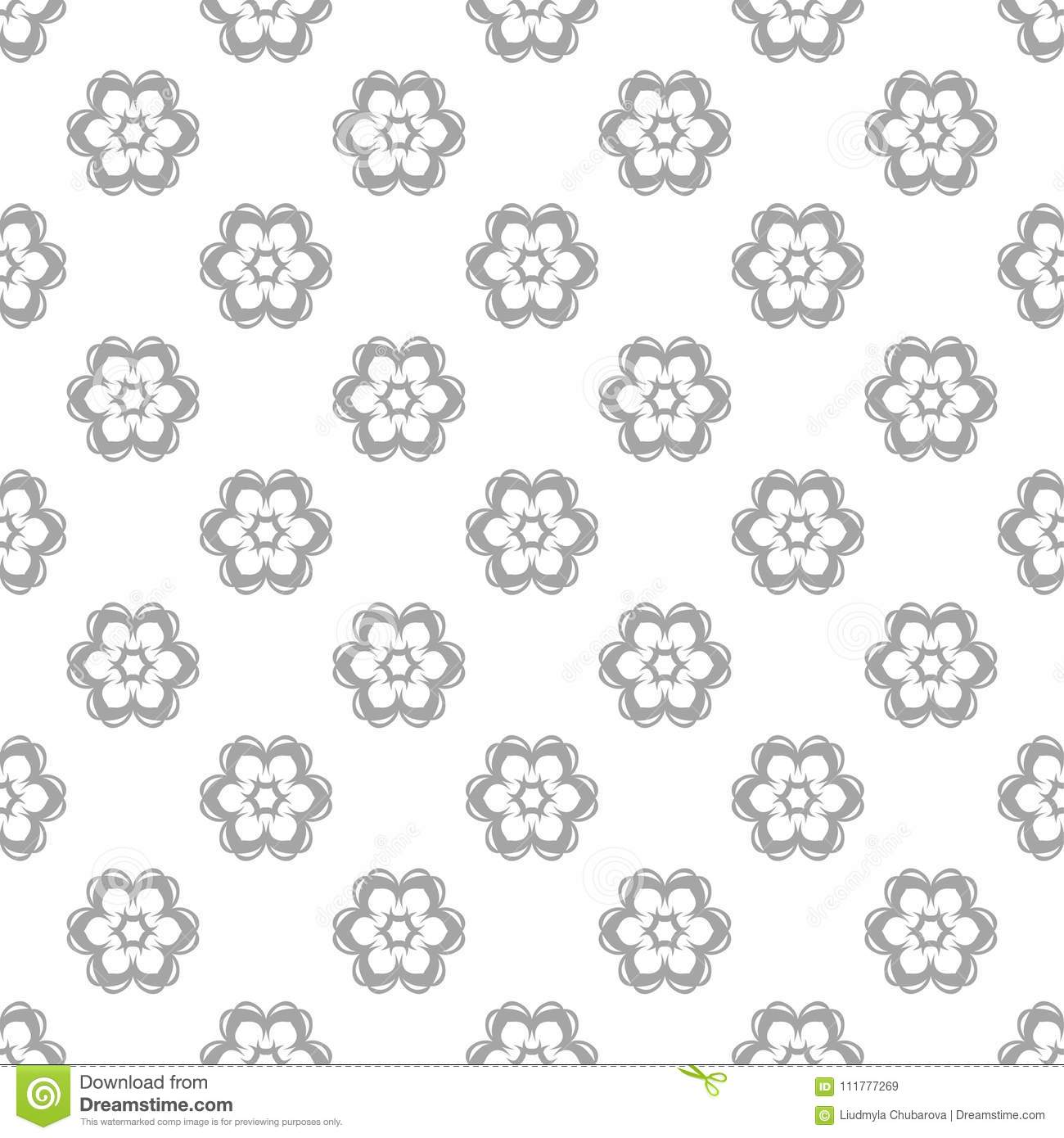 Gray and white seamless pattern