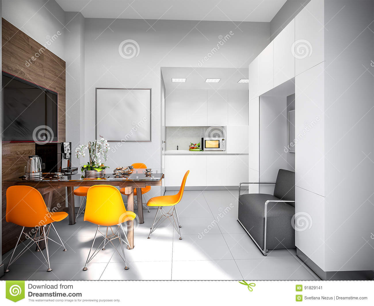 Gray White Urban Contemporary Modern Minimalism High Tech Kitchen
