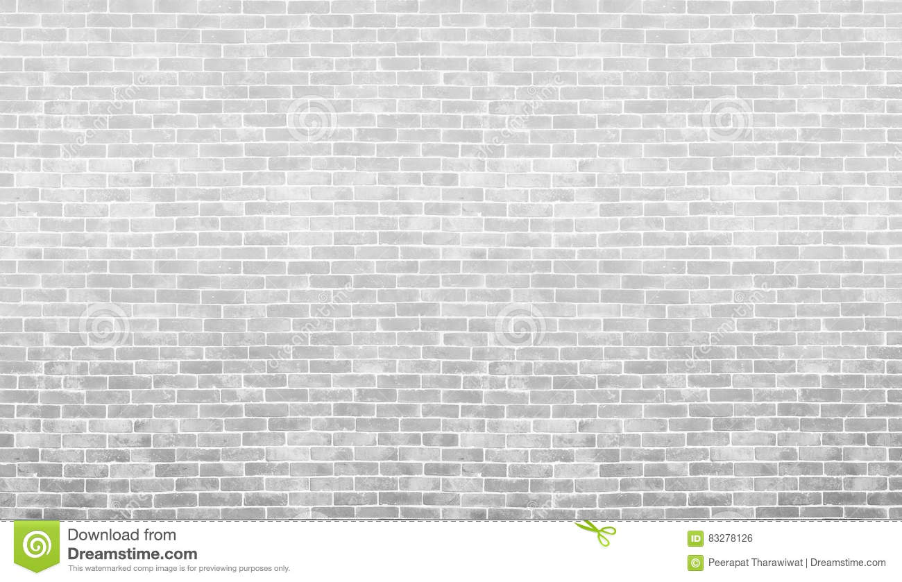 gray and white vintage brick wall texture and background use fo