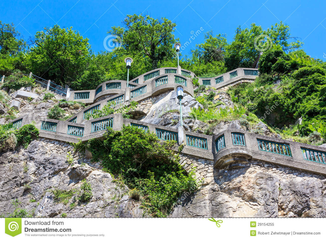 graz stairs to schlossberg hill austria royalty free stock photo image 29154255. Black Bedroom Furniture Sets. Home Design Ideas