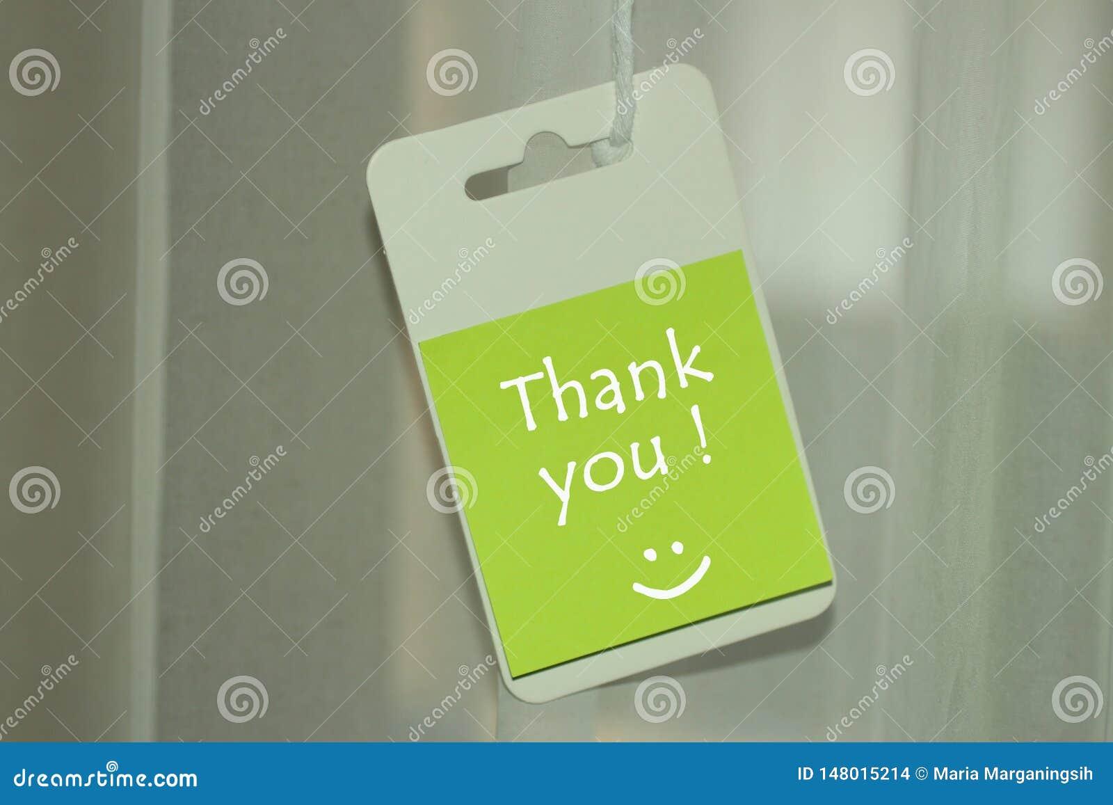 Grazie messaggio con un sorriso