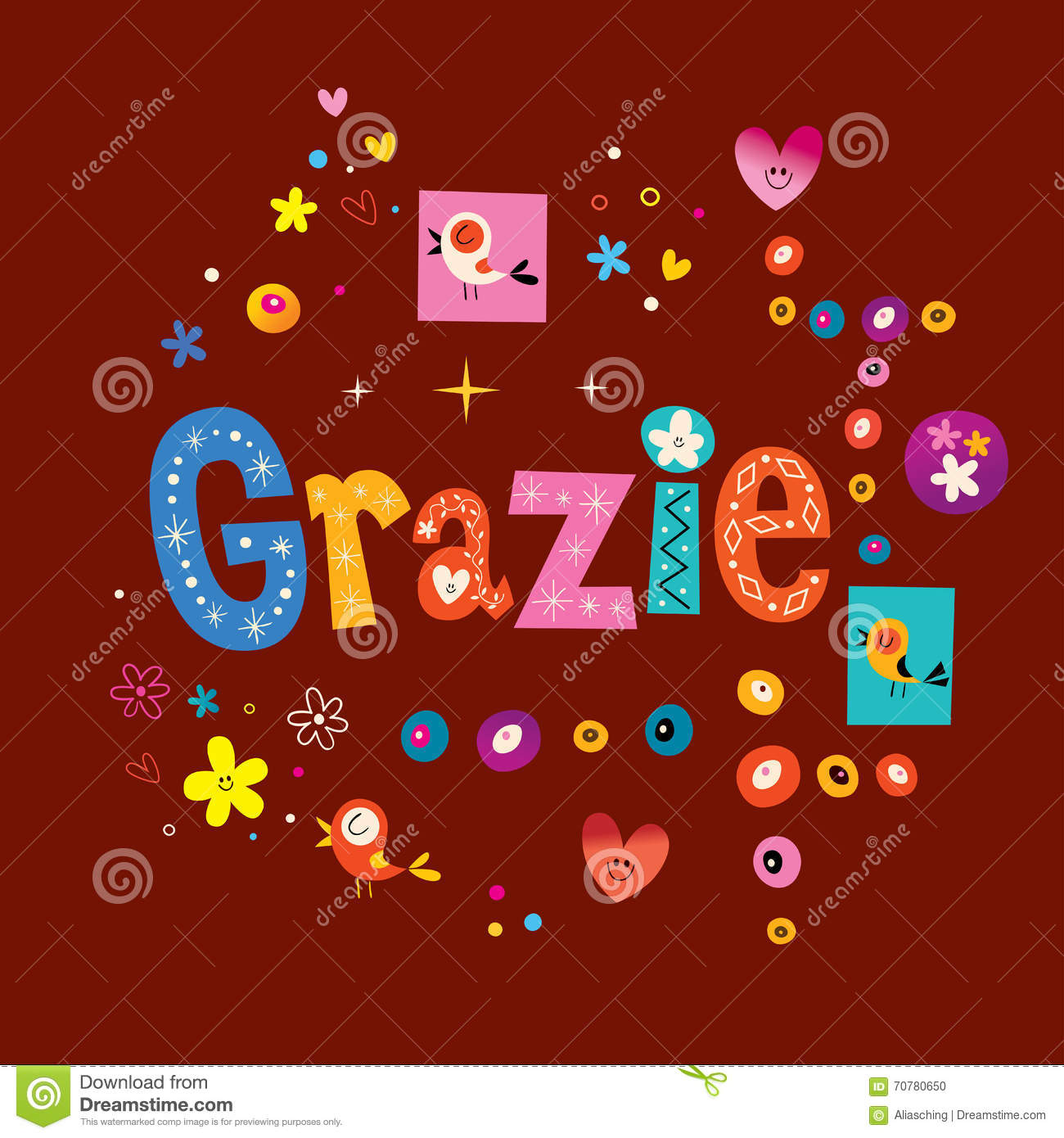 Grazie thank you thanks in italian stock vector illustration of grazie thank you thanks in italian kristyandbryce Image collections