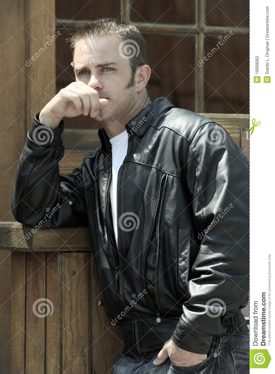 greaser stock photo image of vintage leather jacket 19999062