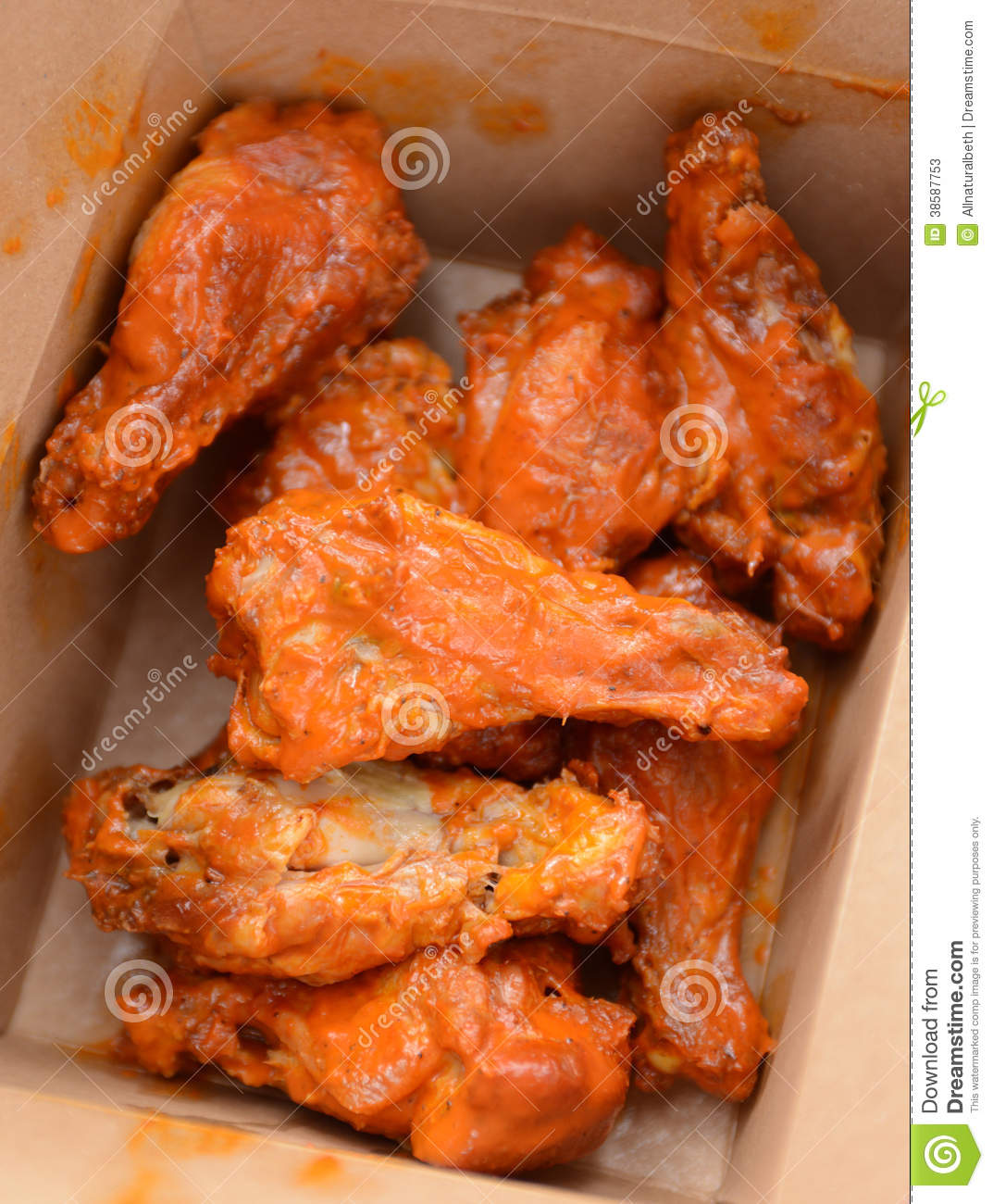 Greasy Buffalo Chicken Wings Stock Photos - Image: 38587753