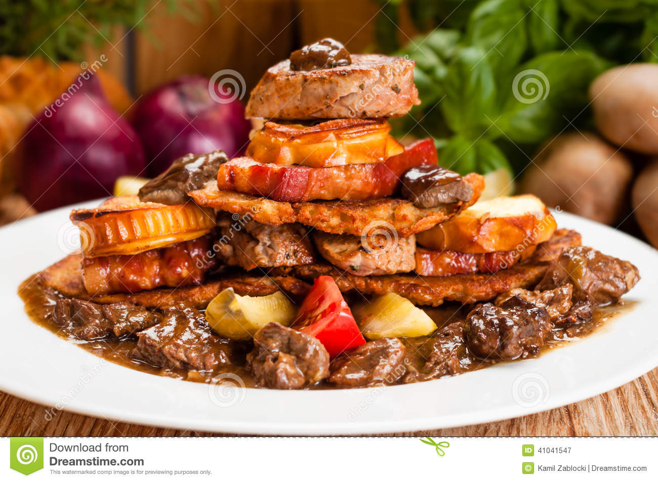 Greasy Unhealthy Food Stock Photo - Image: 41041547