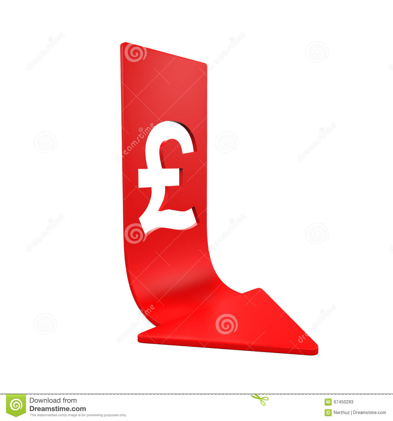 Great britain pound symbol and red arrow stock illustration great britain pound symbol and red arrow biocorpaavc Choice Image