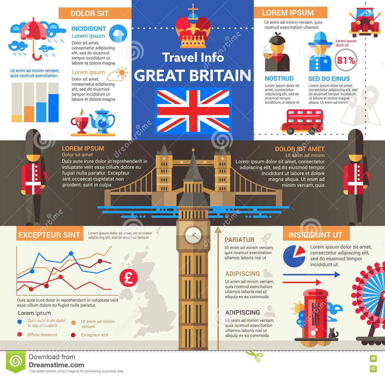 Great Britain Travel Info - Poster, Brochure Cover ...