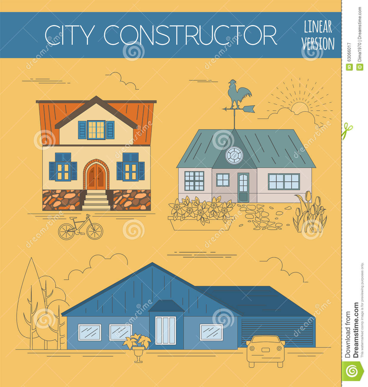 Great City Map Creator Colour Version House Constructor