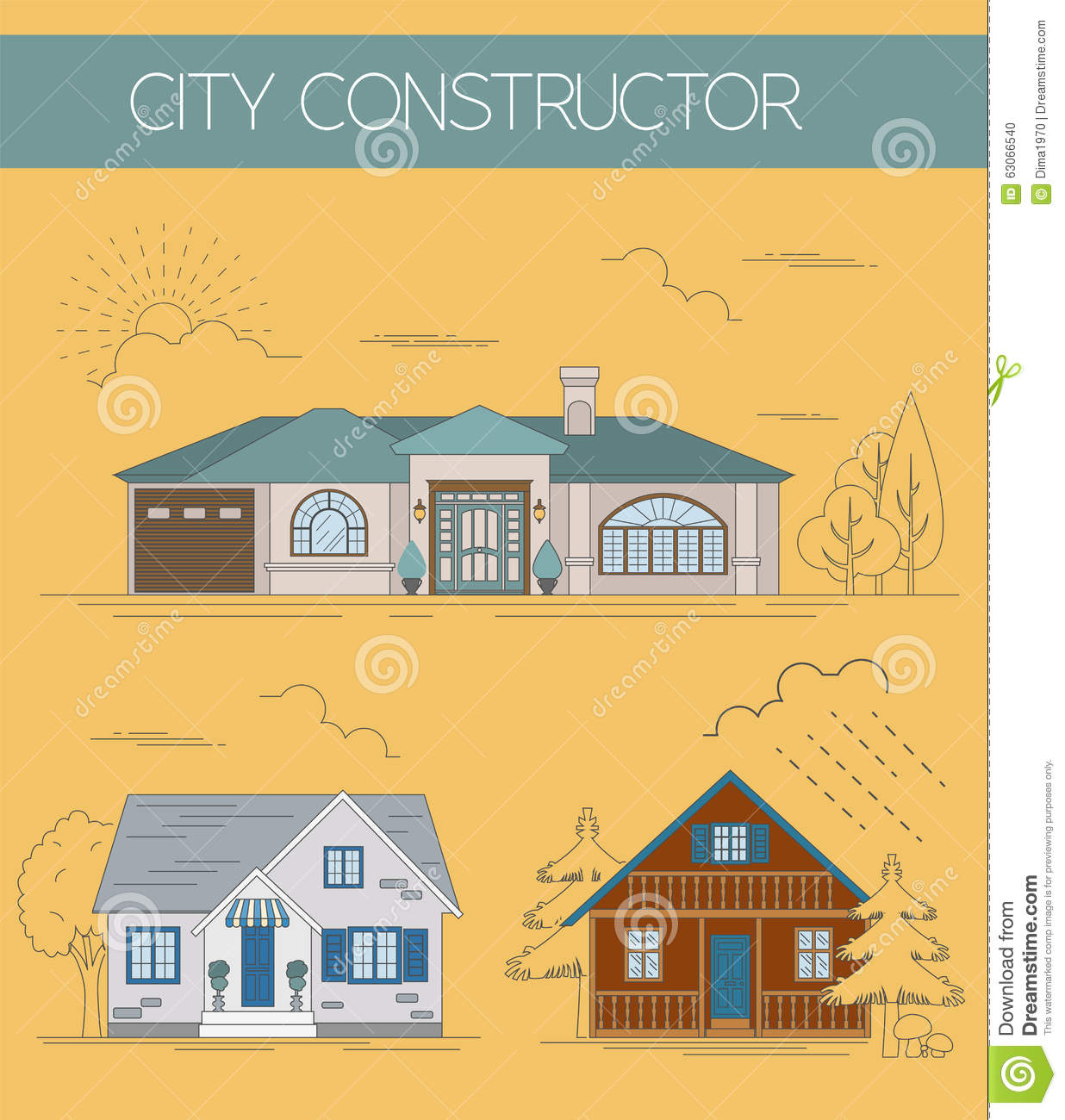 Great city map creator colour version stock vector for House map creator