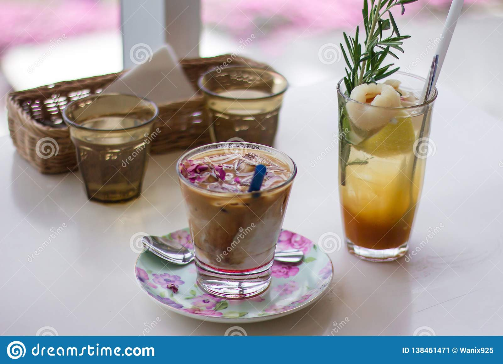 Great Drink At A Decent Cafe Stock Image Image Of Drink