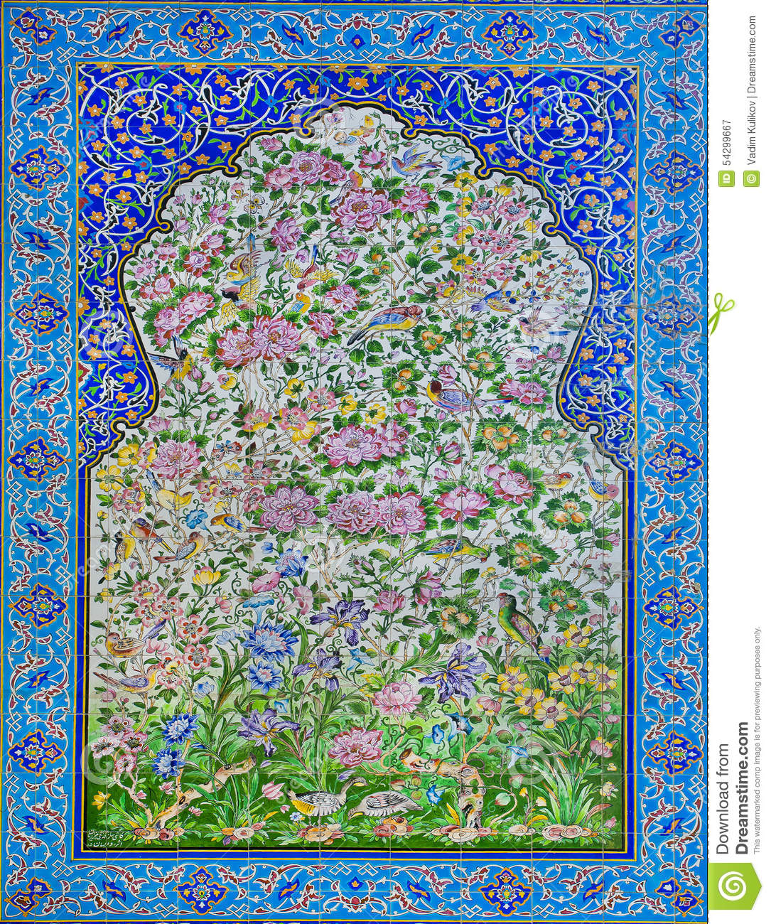 Great Example Of Islamic Culture Historical Tiles With