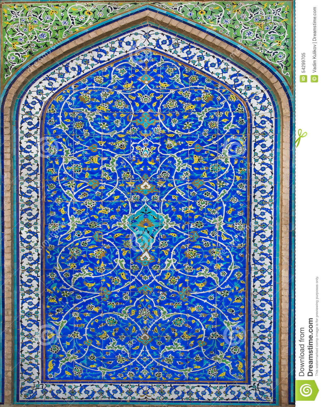 Great Example Of Islamic Culture Tiles With Patterns And