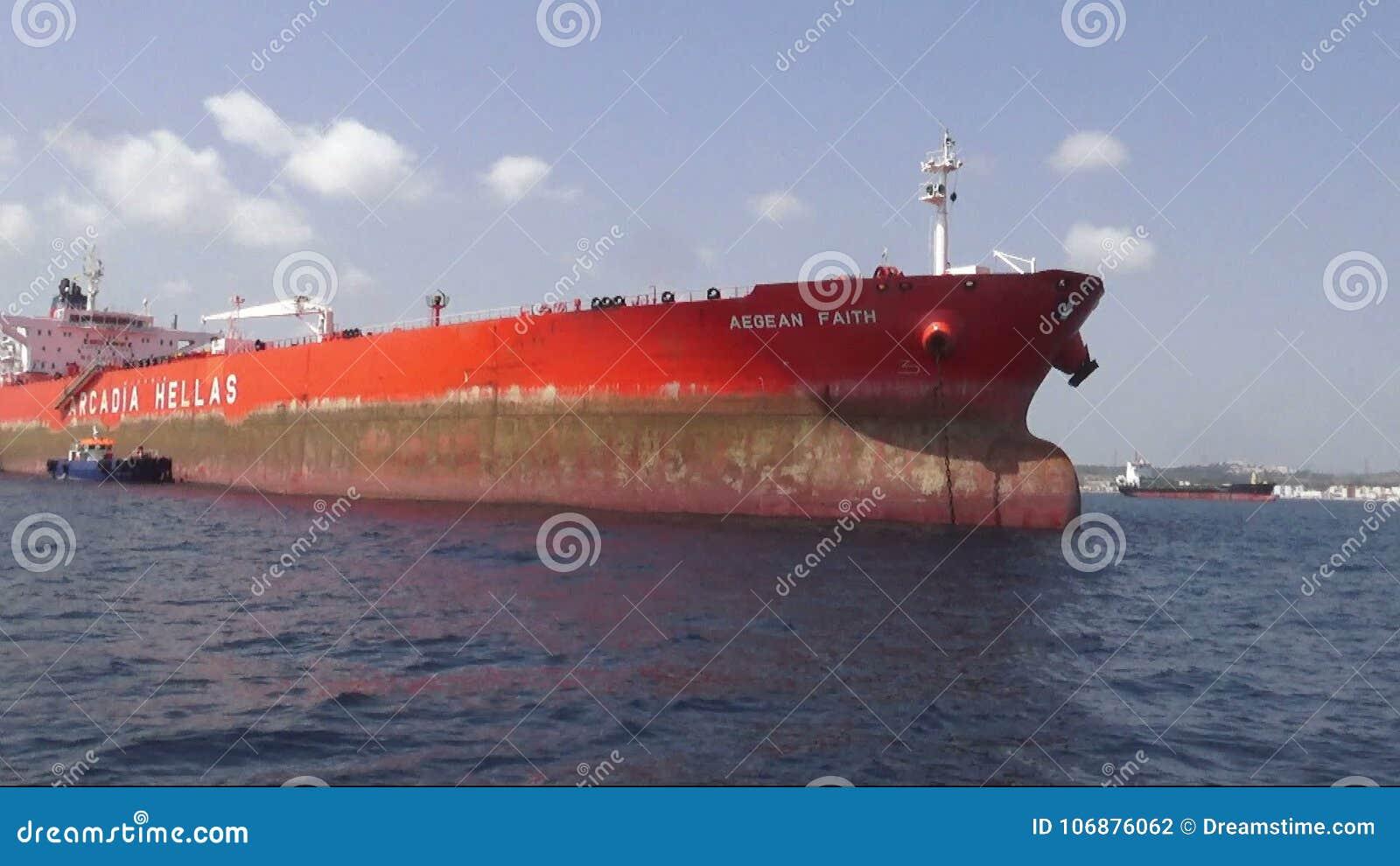 Great general cargo bulk-carrier anchored close to Algeciras harbor  Boat,  nautical