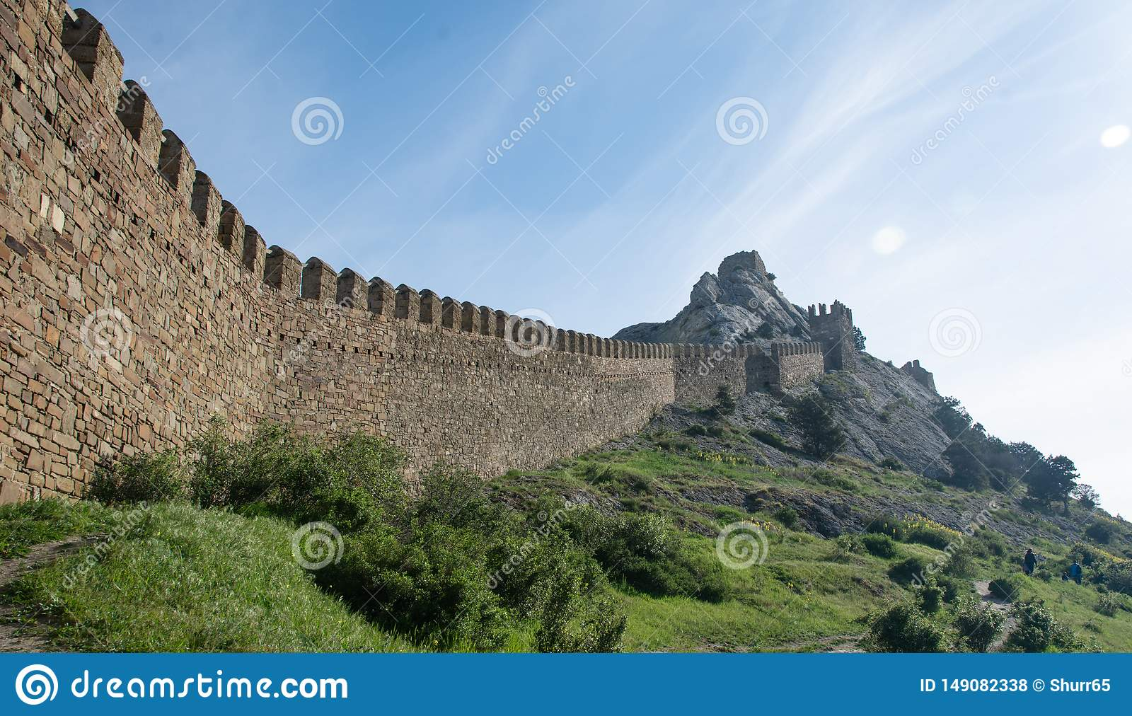 The Great Genoese Wall in Crimea.