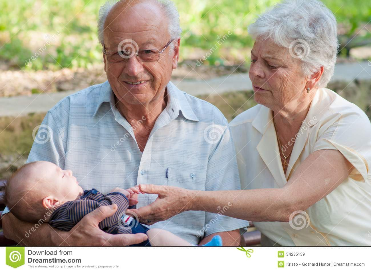 Royalty Free Stock Images: Great grandfather and grandmother and ...
