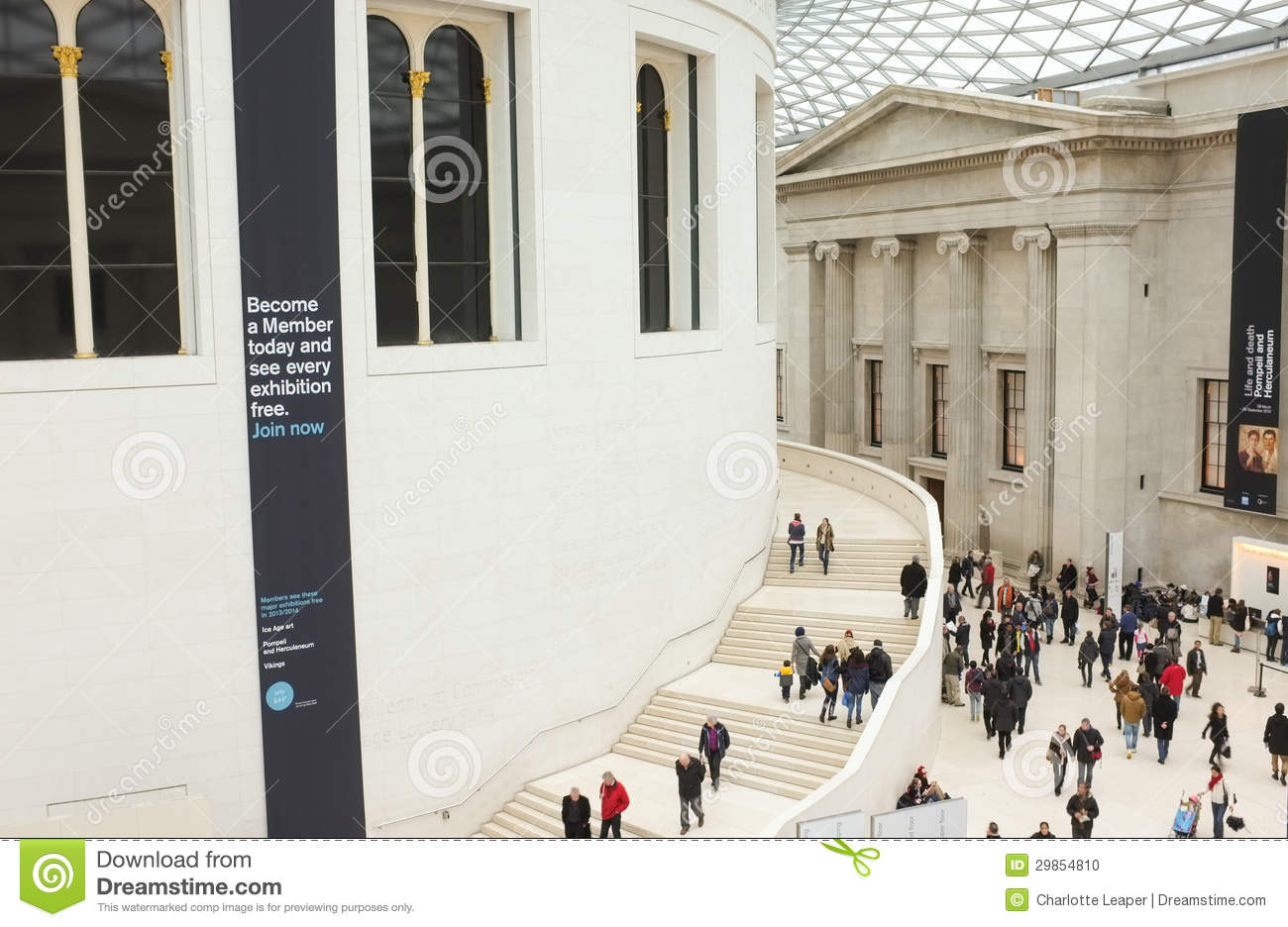 Foyer Museum Tickets : Ticket hall of the british museum england editorial image