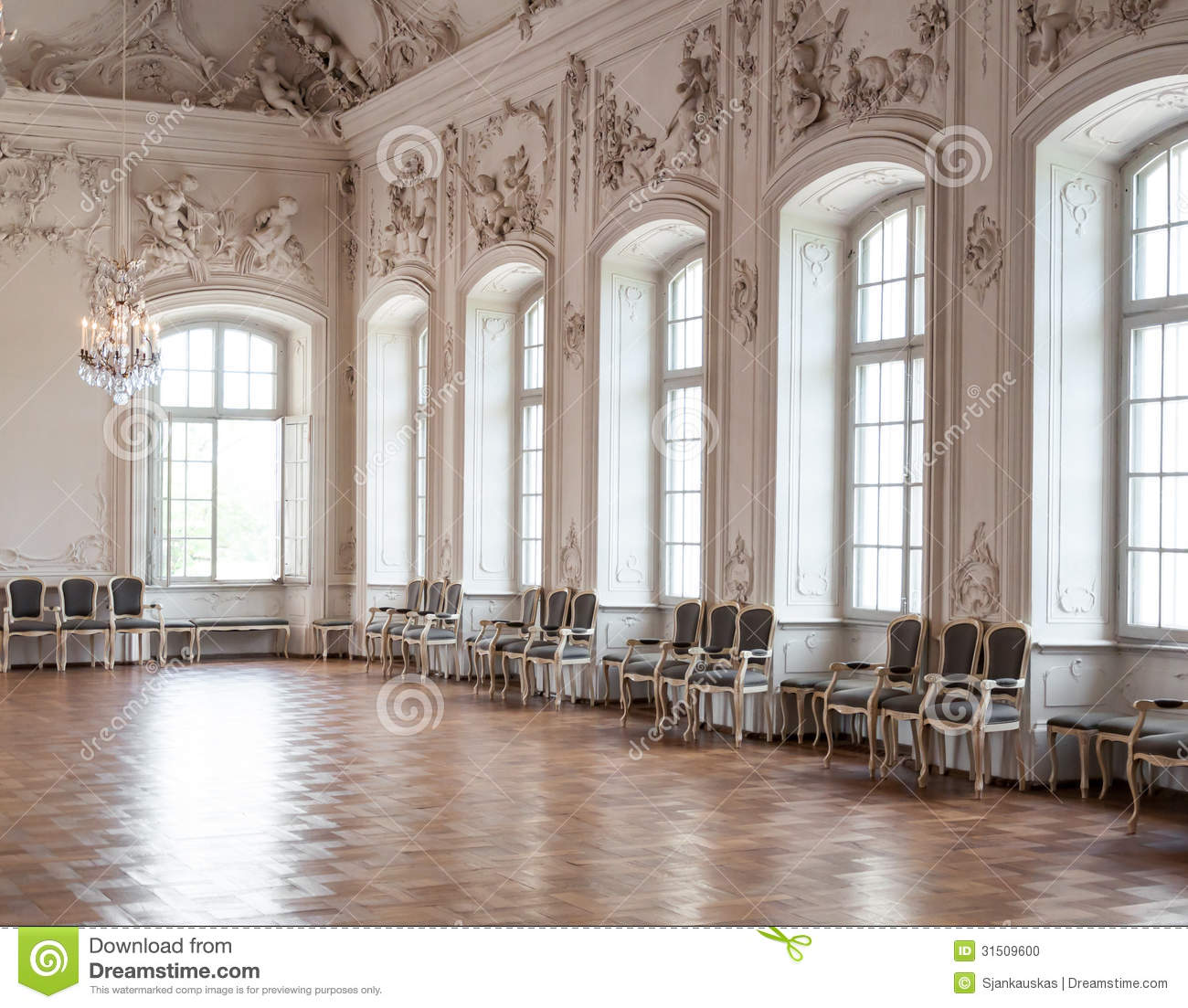 Great Hall In Rundale Palace Stock Photo Image 31509600