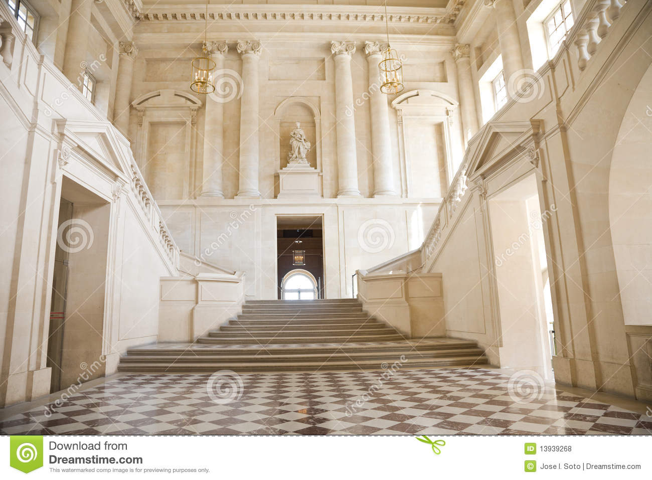 Great Hall And Staircase Royalty Free Stock Photos Image