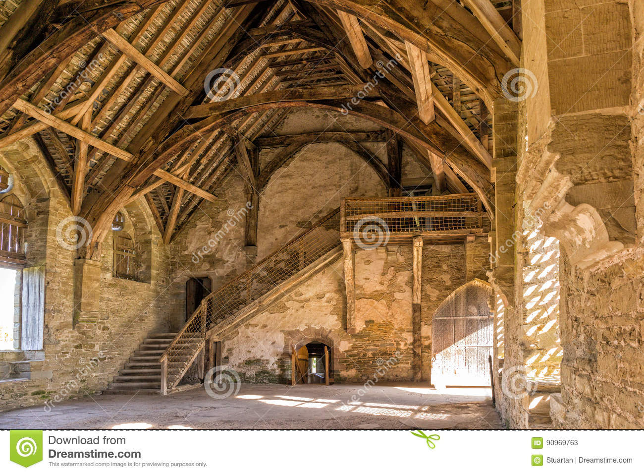 The Great Hall, Stokesay Castle, Shropshire, England.