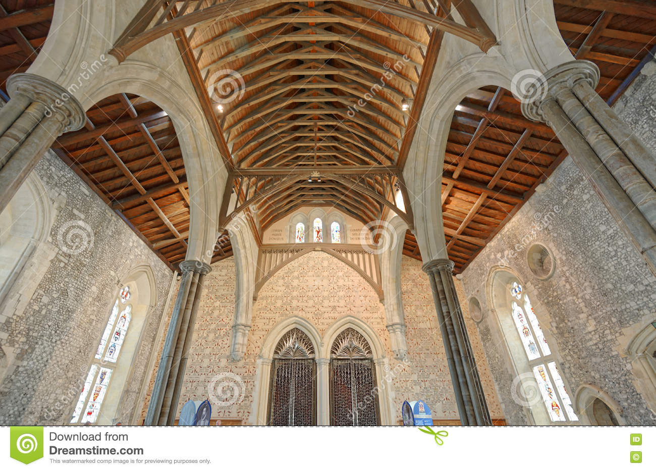 The Great Hall of Winchester Castle in Hampshire, England