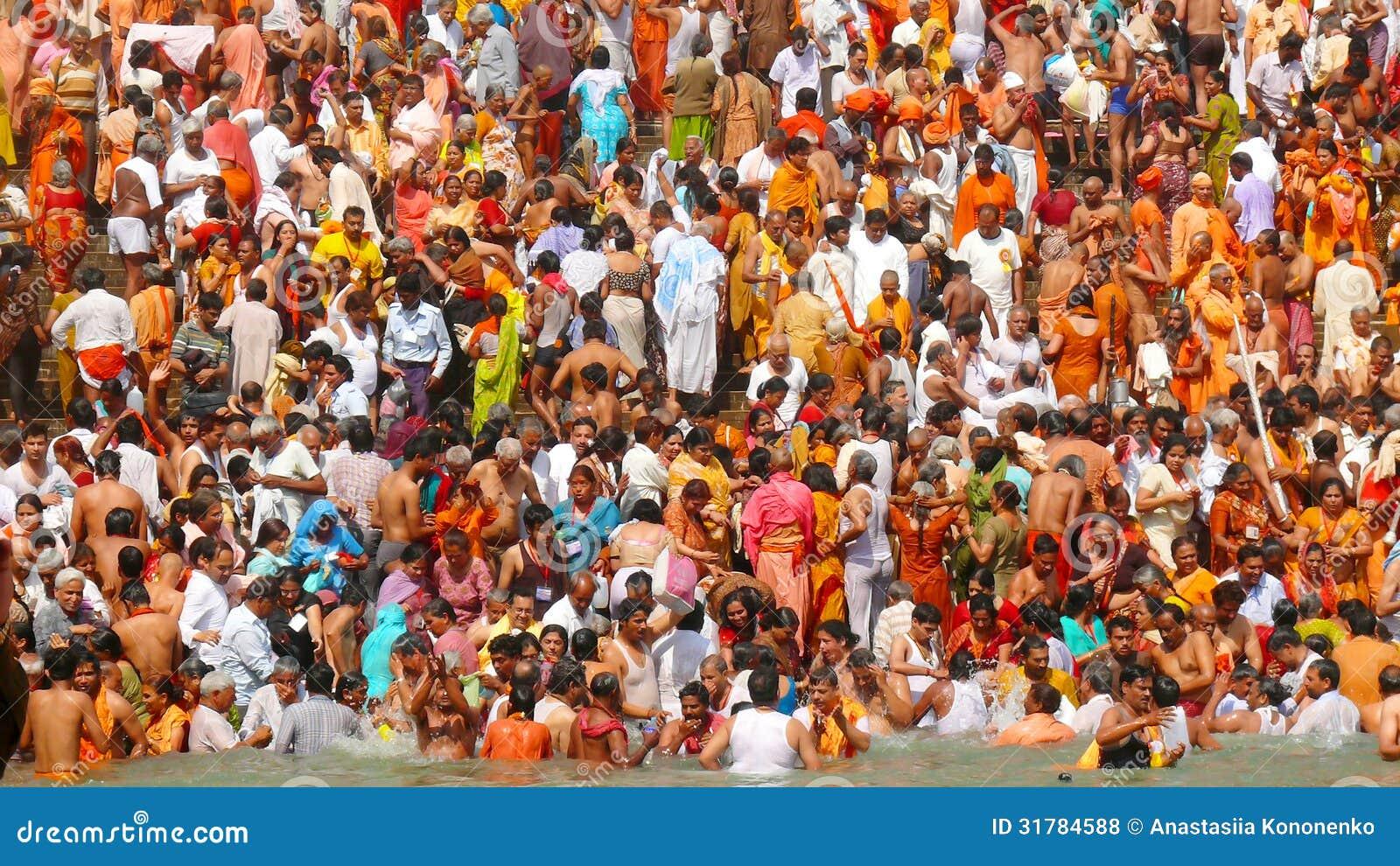 Great Hindu Kumbh Mela bathing