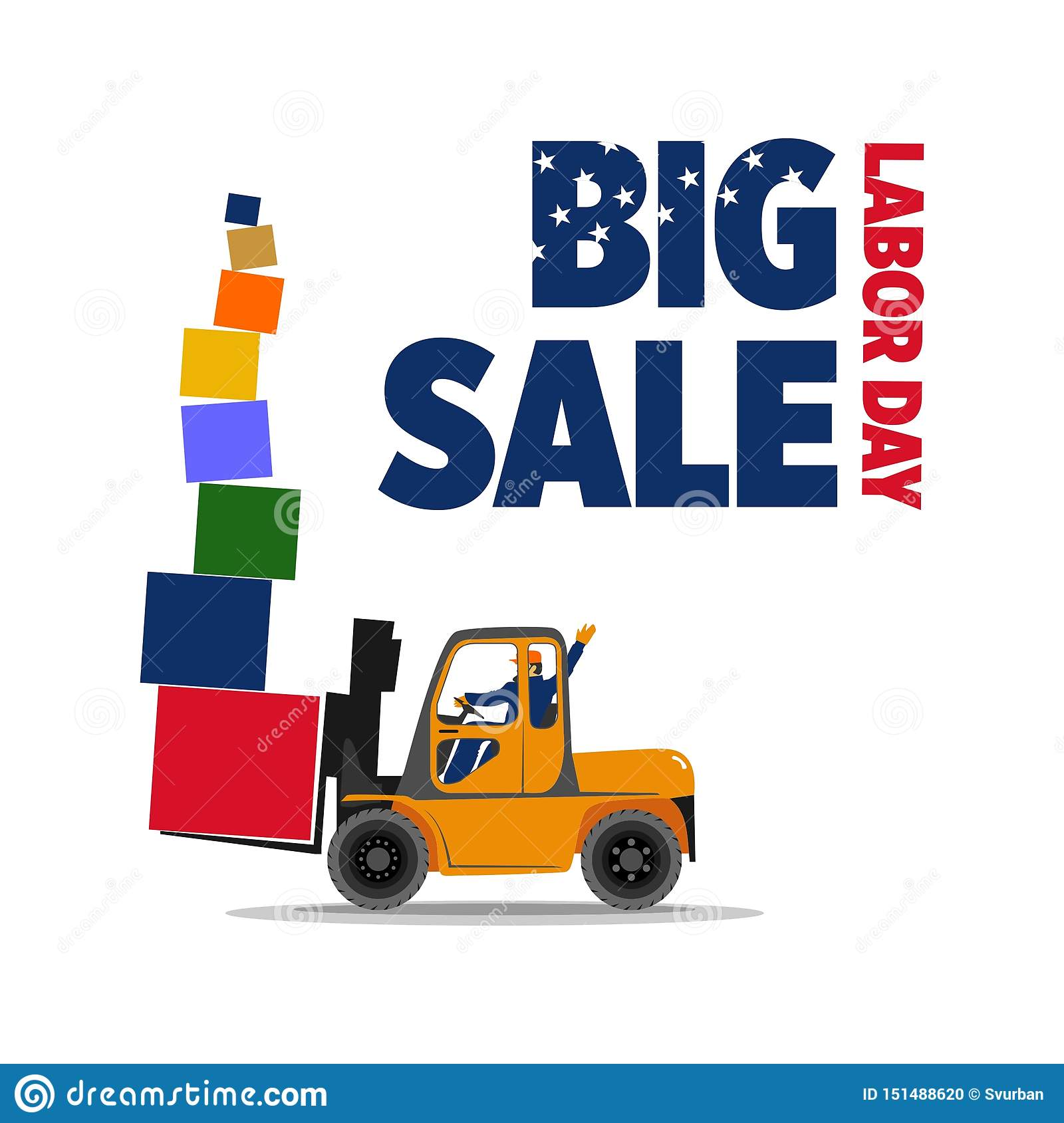 Discount Tire Labor Day Sale >> Great Holiday Discounts On Labor Day Stock Illustration