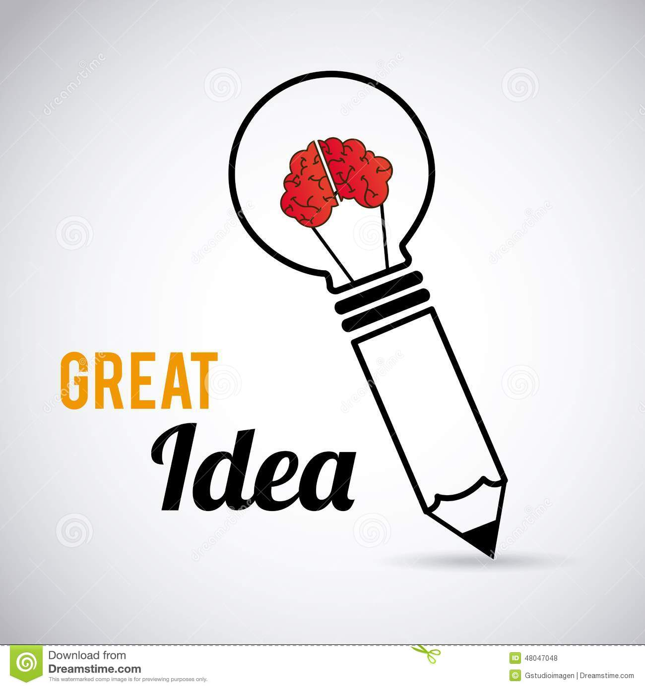 great idea design stock illustration image 48047048