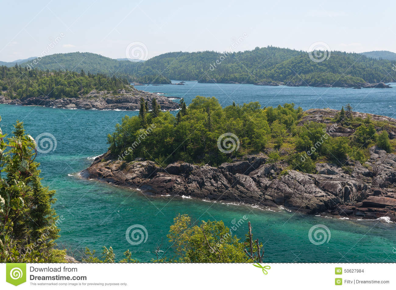 Northern shore of Great Lake Superior. Pukaskwa National Park of ...