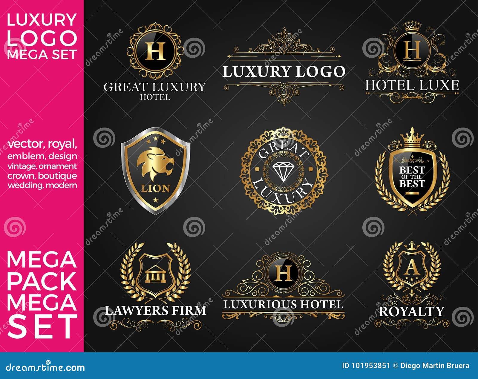 Great Luxury Set, Royal And Elegant Logo Template Vector Design ...