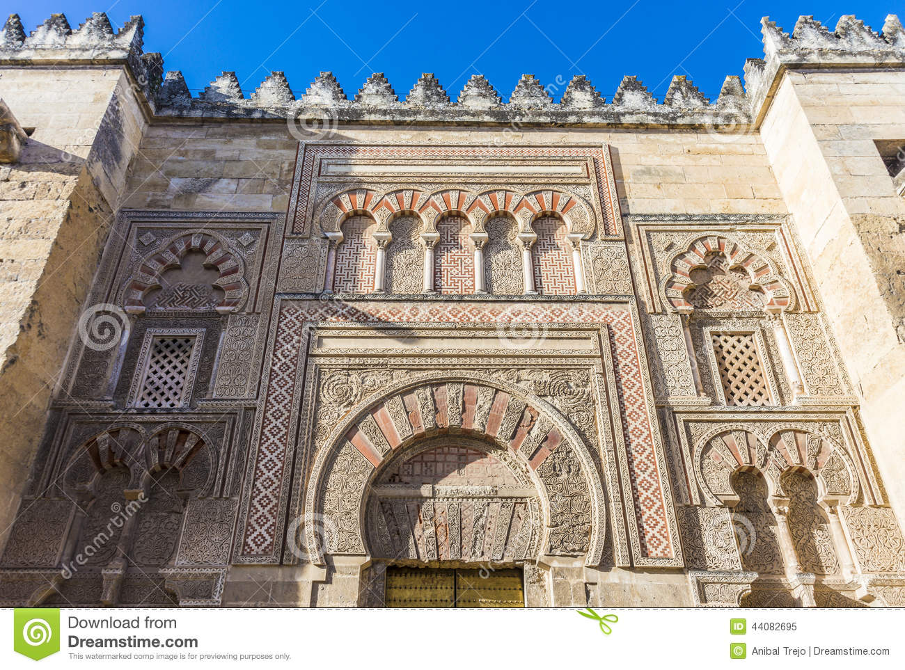 great mosque of cordoba andalusia spain stock image image of