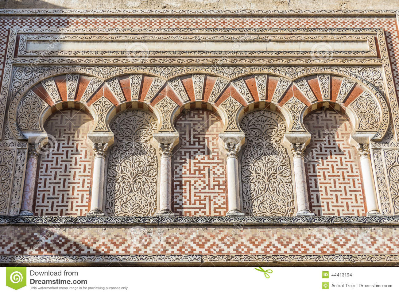 great mosque of cordoba andalusia spain stock photo image of