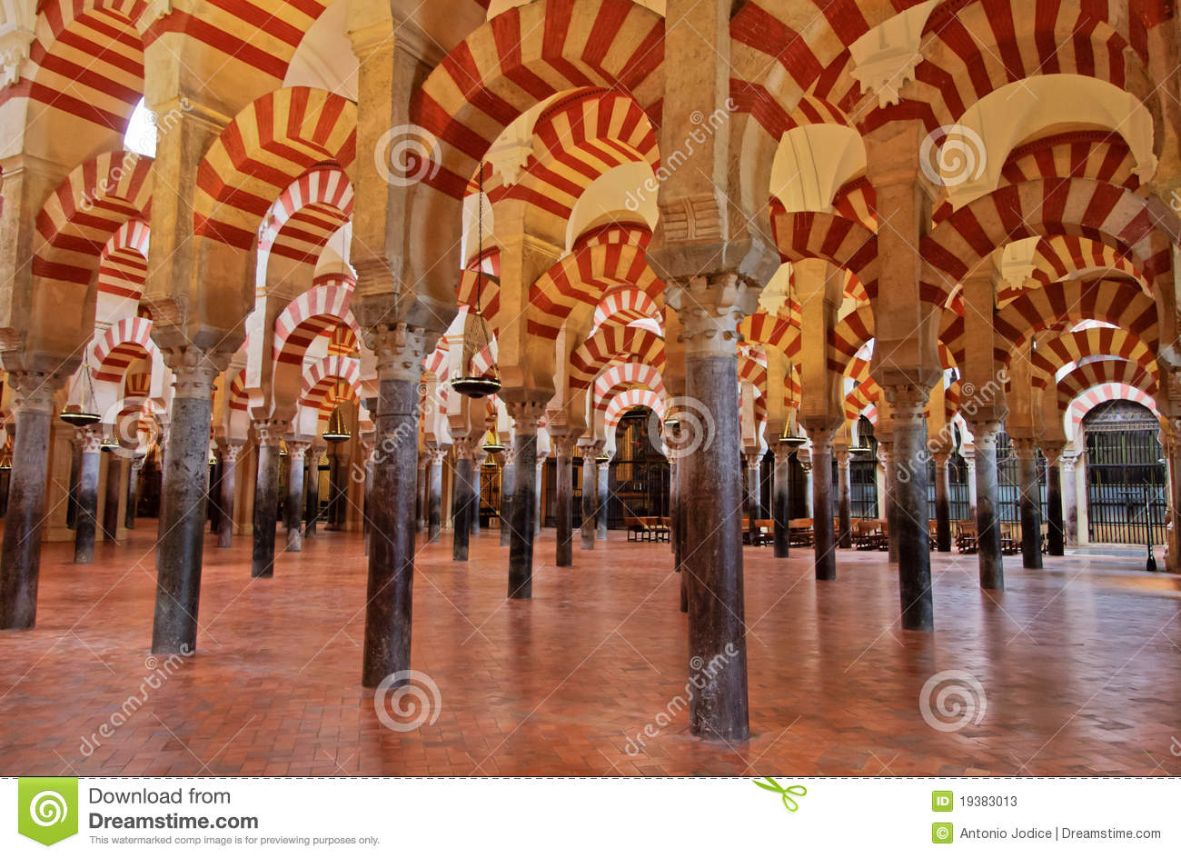 The Great Mosque In Cordoba Spain Stock Image Image Of Column Mezquita 19383013