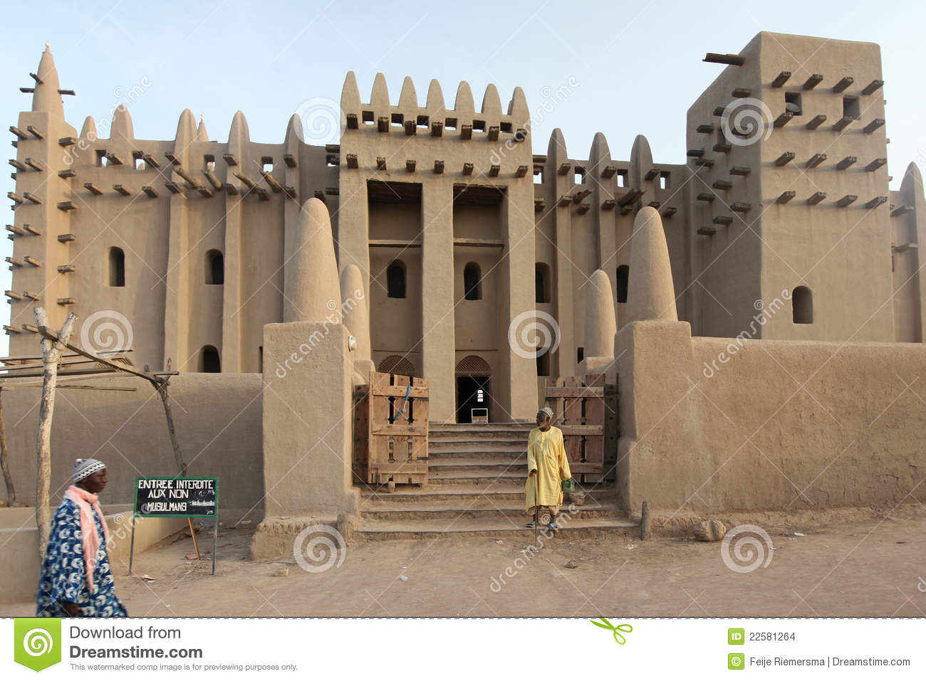 great mosque of djenne  mali editorial stock image