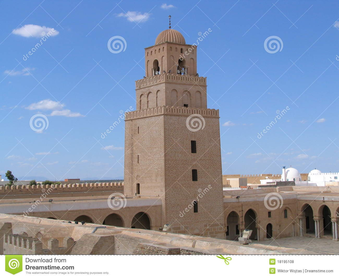 Kairouan Tunisia  city images : The Great Mosque in Kairouan Tunisia , the fourth holy city of Islam ...
