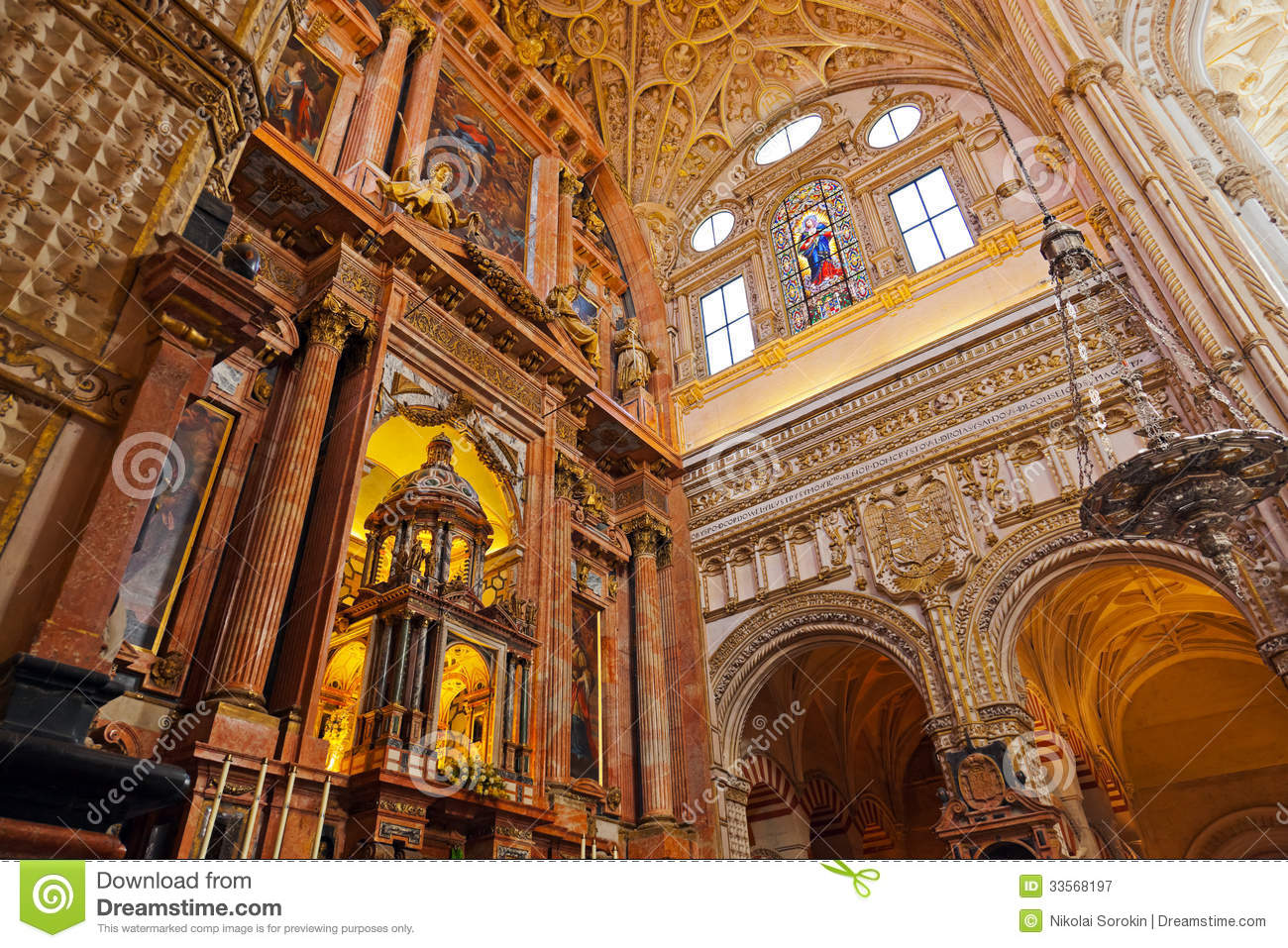 Great Mosque Mezquita Interior In Cordoba Spain Stock Image - Image: 33568197