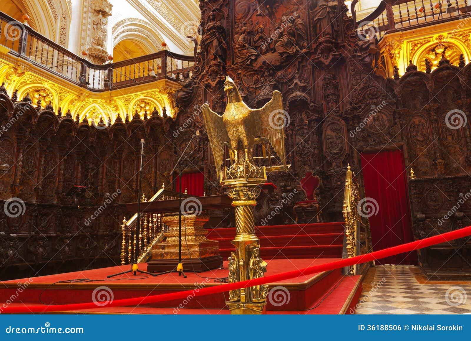 Great Mosque Mezquita Interior In Cordoba Spain Stock