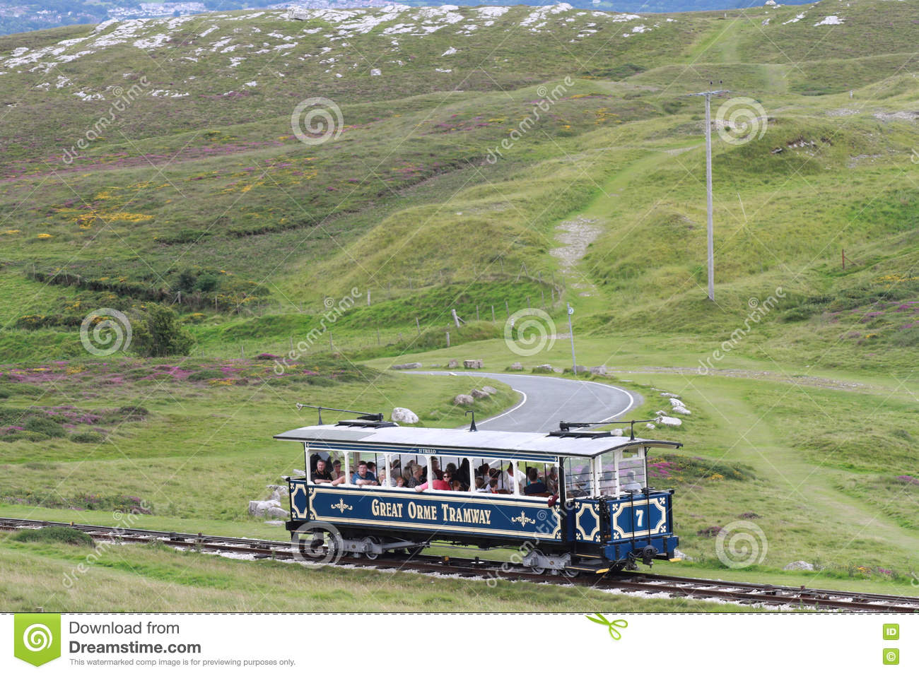 Great Orme Tramway editorial photography  Image of vacation