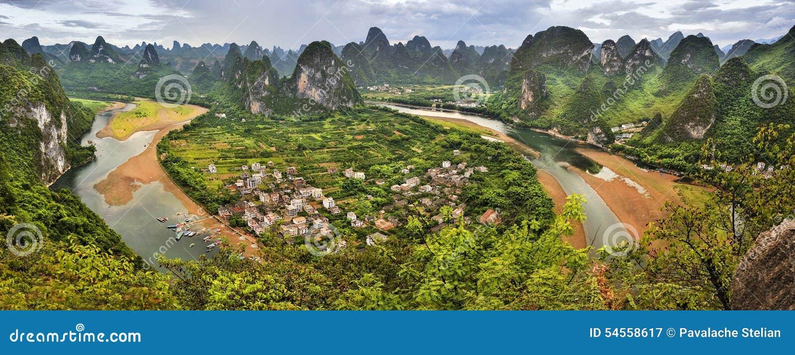 Great panoramic view of guilin Scenery