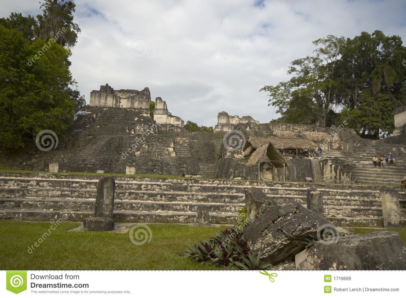 The Mayan Ruins Of Tikal Royalty-Free Stock Image ...