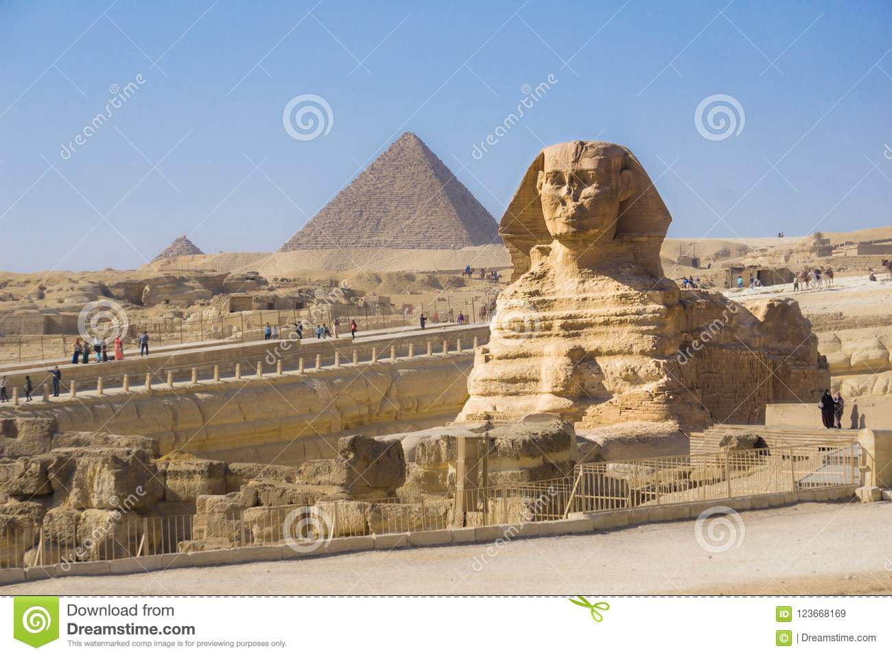 The Great Pyramid Of Giza And Sphinx, Cairo, Egypt