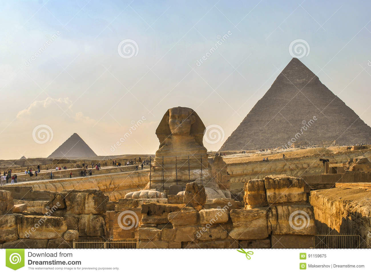 great pyramids in giza cairo egypt editorial image image of