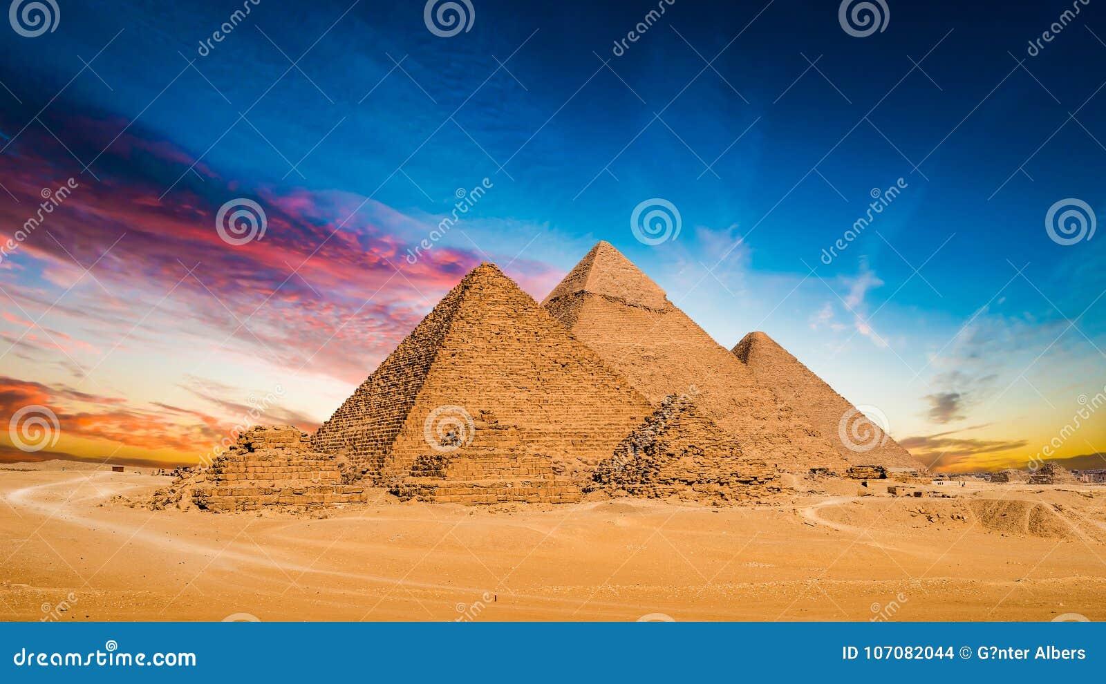 Great Pyramids of Giza stock photo  Image of pharaoh - 107082044