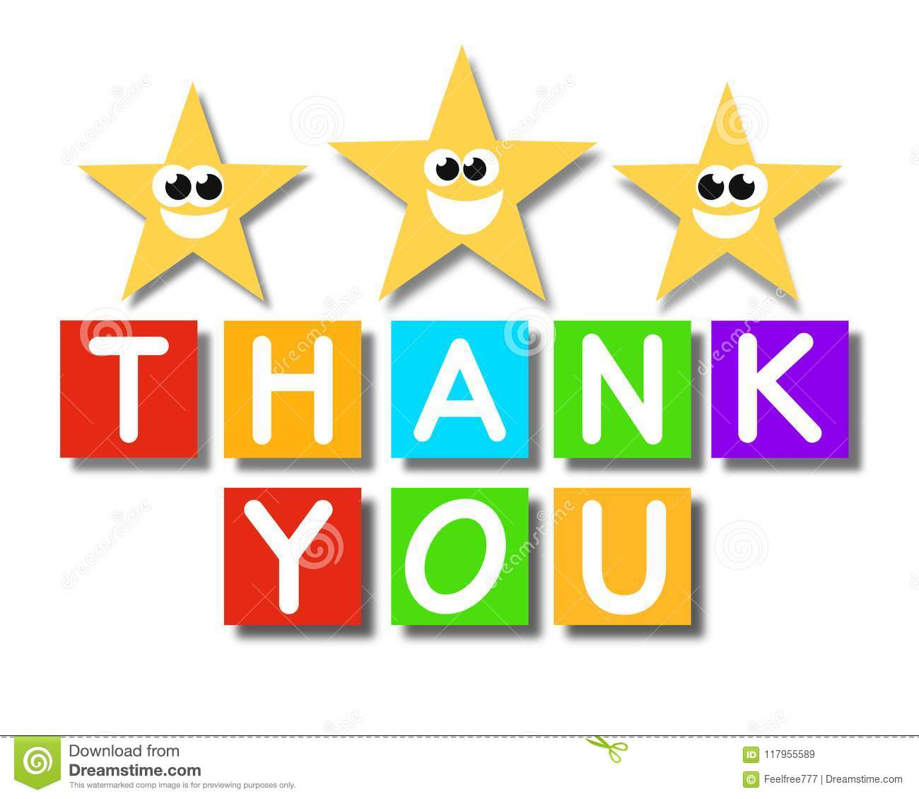 Thank You Super Quality Abstract Business Poster Stock Illustration